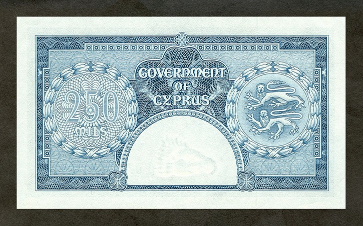 Government of Cyprus   250 Mils     No Date Issue  Queen Elizabeth II Printed on this Currency Dimensions: 200 X 100, Type: JPEG