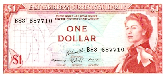 Government of East Caribbean States  1 Dollars    No Date Issue  Queen Elizabeth II Printed on this Currency Dimensions: 200 X 100, Type: JPEG