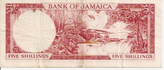 Government of Jamaica  5 Schillings     No Date Issue  Queen Elizabeth II Printed on this Currency Dimensions: 200 X 100, Type: JPEG