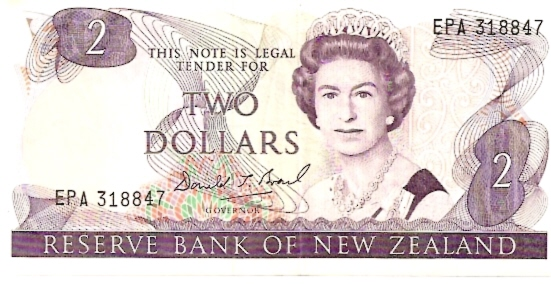 Government of New Zealand  2 Dollars    No Date Issue  Queen Elizabeth II Printed on this Currency Dimensions: 200 X 100, Type: JPEG